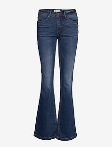BSWINT BRIGHT FLARED JE - flared jeans - indigo blue washed