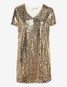 BSCORAS R DR - sequin dresses - gold