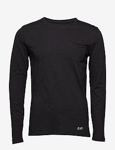 BHNICOLAI tee l.s. NOOS - basic t-shirts - black
