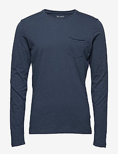 BHNICOLAI tee l.s. NOOS - t-shirts à manches longues - midnight blue