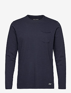 BHNICOLAI tee l.s. NOOS - basic t-shirts - navy