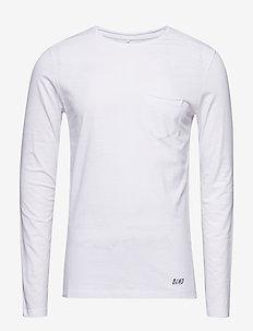 BHNICOLAI tee l.s. NOOS - t-shirts basiques - white