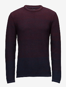 Pullover - perusneuleet - wine red