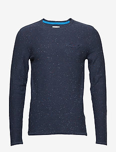 Pullover - basic strik - mood indigo blue