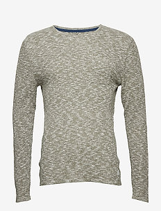 Pullover - basic strik - dusty green