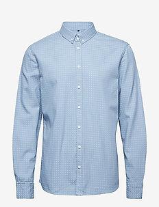 Shirt - oxford-paidat - dusty blue