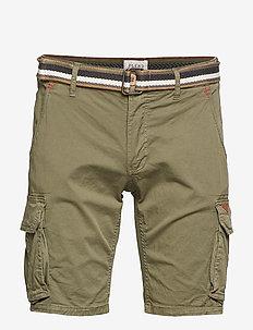 Shorts w/ belt - BEETLE GREEN