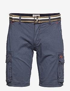 Shorts w/ belt - DARK NAVY BLUE