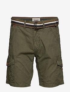 Shorts w/ belt - BEETLE GREEN