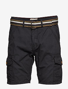 Shorts w/ belt - BLACK