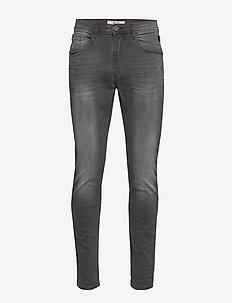 Jeans - w. scratches - DENIM GREY