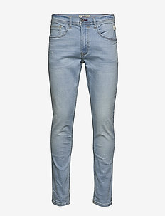 Jeans - w. scratches - DENIM LIGHT BLUE