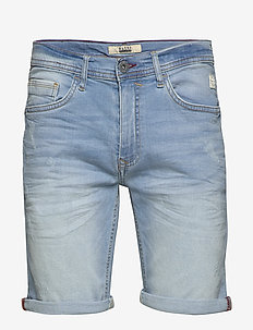 Denim shorts - w. scratches - denim shorts - denim light blue