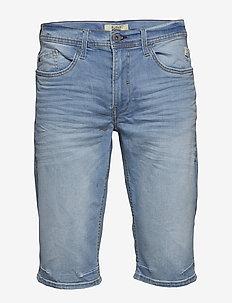Denim capri shorts - clean - DENIM LIGHT BLUE
