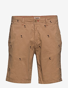 Shorts - short chino - tiger brown