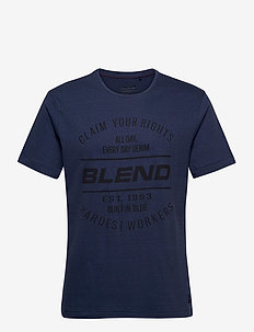 Tee - short-sleeved t-shirts - dark denim