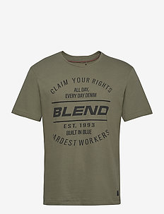 Tee - short-sleeved t-shirts - deep lichen green