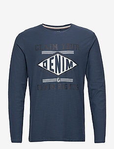 Tee - t-shirts à manches longues - dark denim