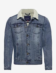 Outerwear - kurtki dżinsowe - denim middle blue