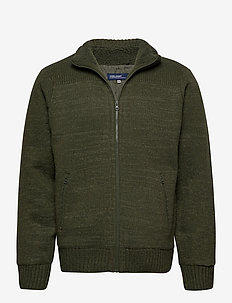Cardigan - basic knitwear - deep depths melange