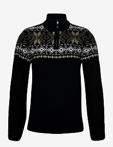 Pullover - half zip jumpers - black