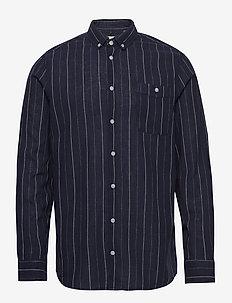 Shirt - linen shirts - dark navy blue