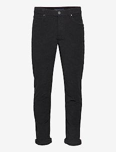 Pants - slim jeans - black