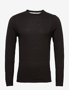 Pullover - basic strik - black