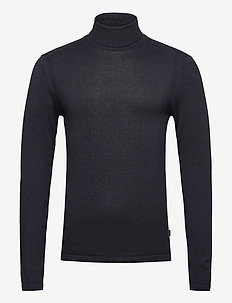 Pullover - basic knitwear - dark navy melange