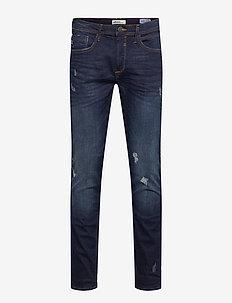 Jet fit - Scratches - regular jeans - denim dark blue