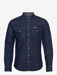 Denim shirt - basic skjortor - denim dark blue