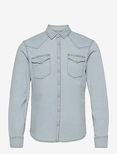Denim shirt - peruspaitoja - denim light blue