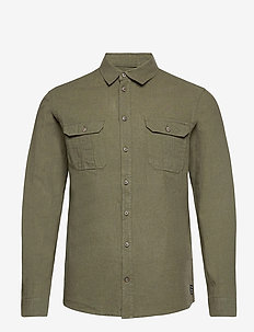 Shirt - ruutupaidat - dusty olive