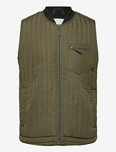 Outerwear - vests - dusty olive