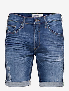 Denim shorts - jeansshorts - denim middle blue