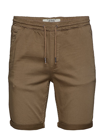 Jogg denim shorts - SAFARI BROWN
