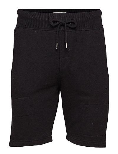 non denim shorts - BLACK