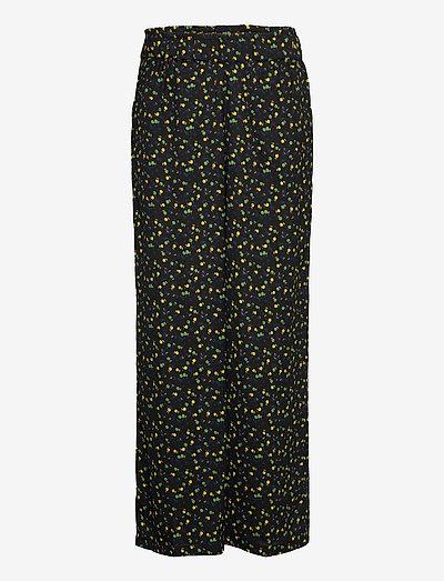BSADELIA PA2 - bukser med brede ben - black