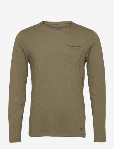 BHNICOLAI tee l.s. NOOS - basic t-shirts - dusty green