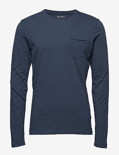 BHNICOLAI tee l.s. NOOS - basic t-shirts - midnight blue