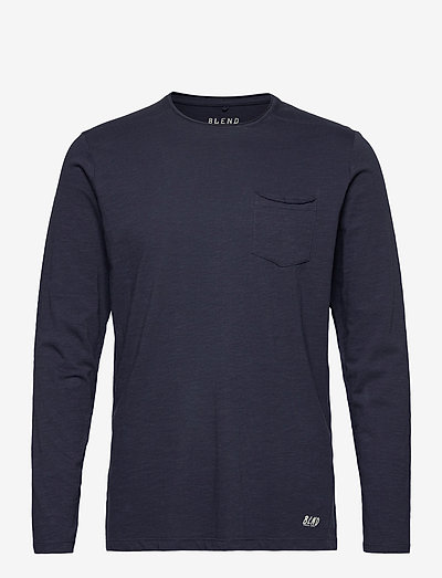 BHNICOLAI tee l.s. NOOS - basic t-shirts - navy