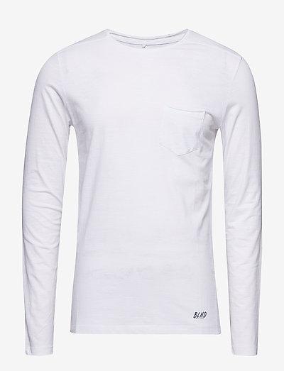 BHNICOLAI tee l.s. NOOS - basic t-shirts - white