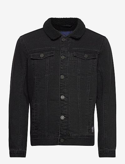 Outerwear - teddyjakker - denim black