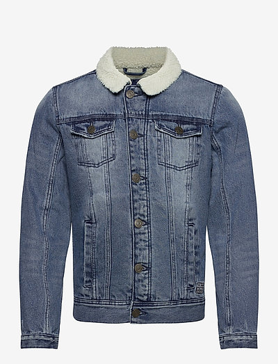 Outerwear - teddyjakker - denim middle blue
