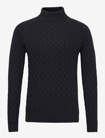Pullover - basic strik - dark navy