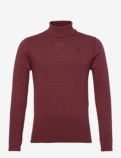 Pullover - basic strik - tawny port