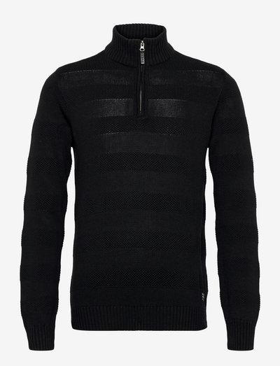 LarkhillBH Halfzip pullover - half zip-trøjer - black