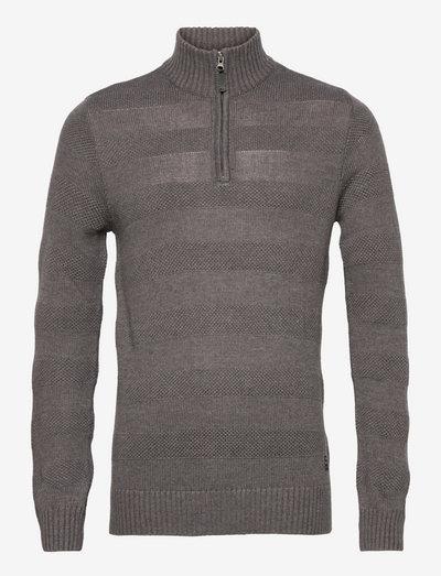 LarkhillBH Halfzip pullover - half zip-trøjer - pewter mix