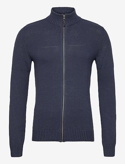 LarkhillBH Zipthrough pullover - basic strik - dress blues