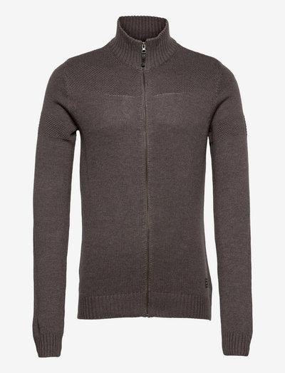 LarkhillBH Zipthrough pullover - basic strik - pewter mix